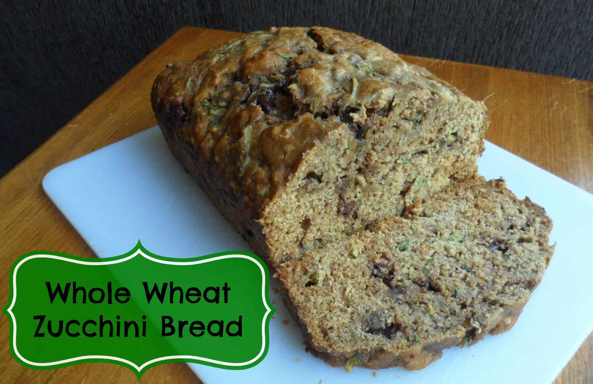 Whole Wheat Zucchini Bread {Recipe}