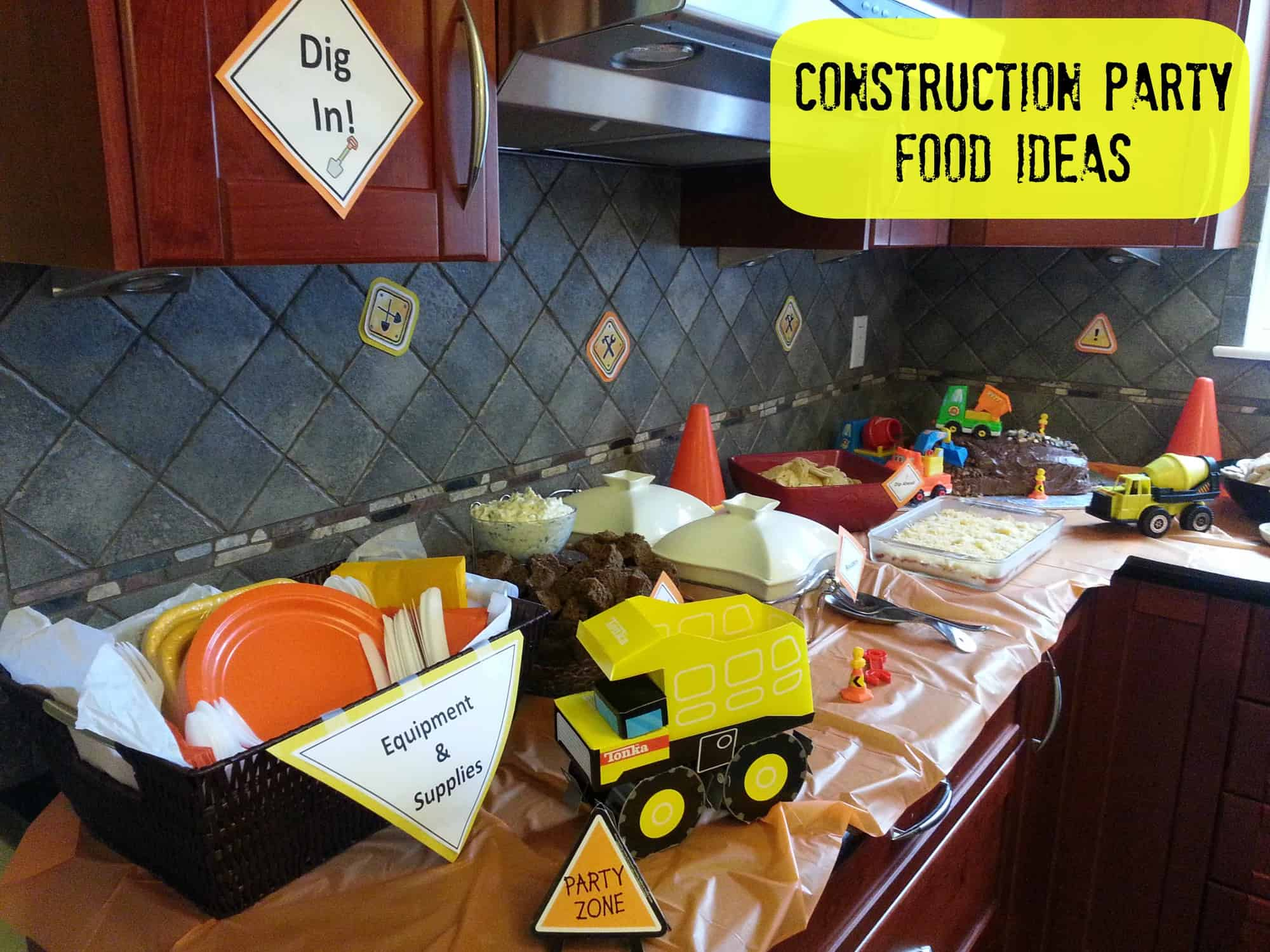 Kids Birthday Party Ideas: Food for a Construction Birthday Party