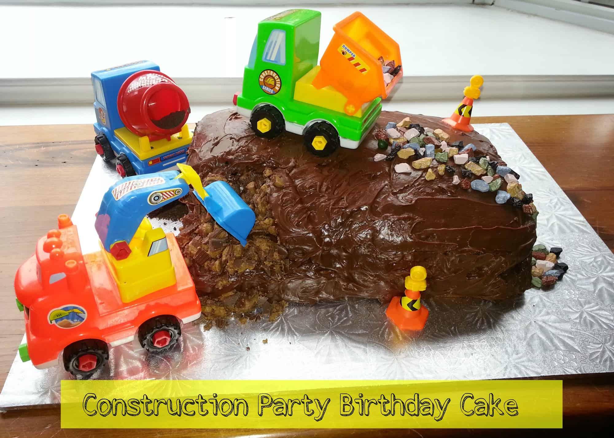 Birthday Party Ideas: Construction Party Birthday Cake