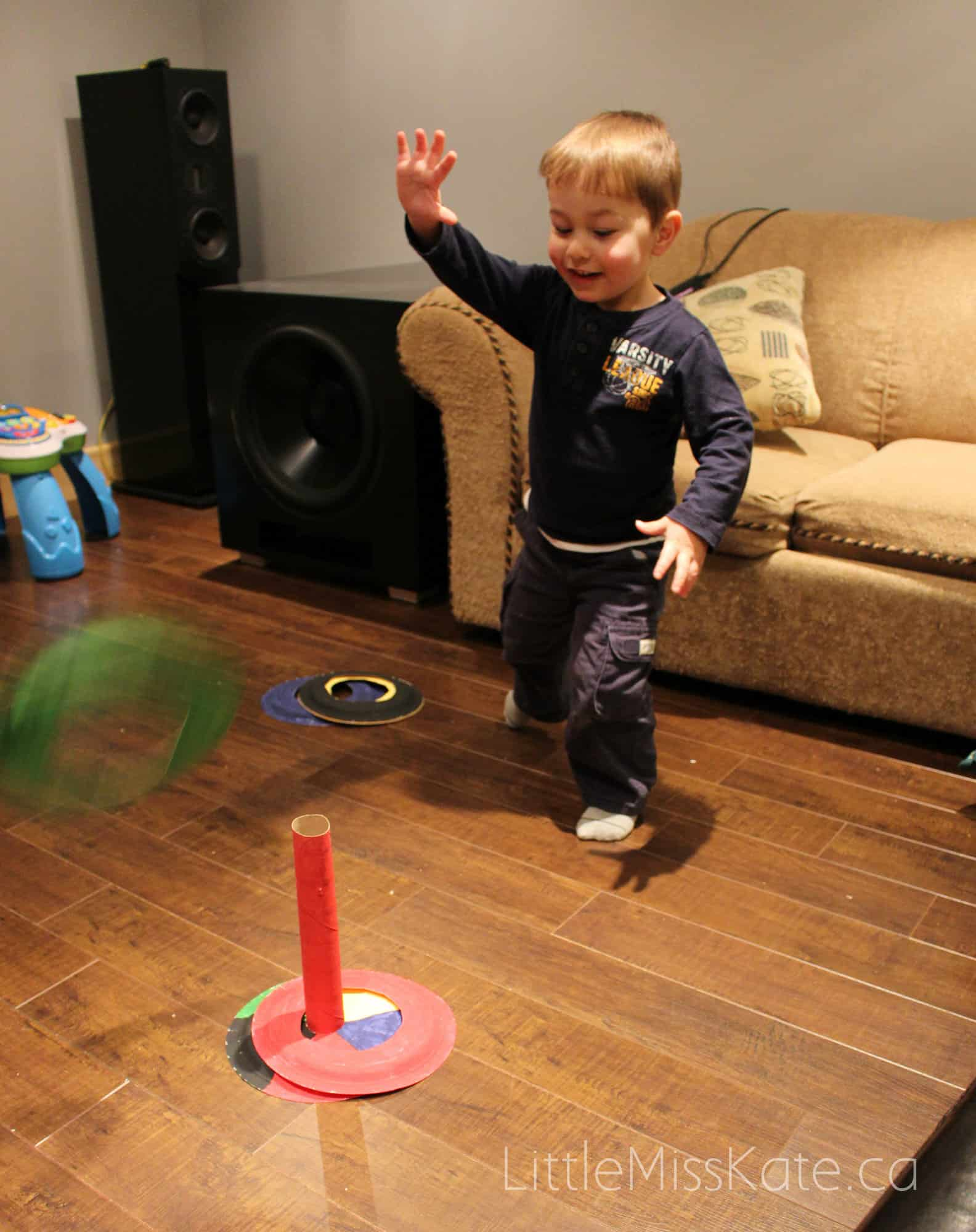 Olympic activities for kids DIY ring toss game