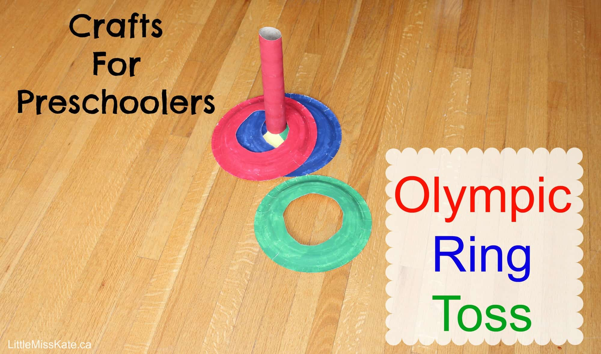 Olympic Crafts for Preschoolers Olympic Ring Toss Game