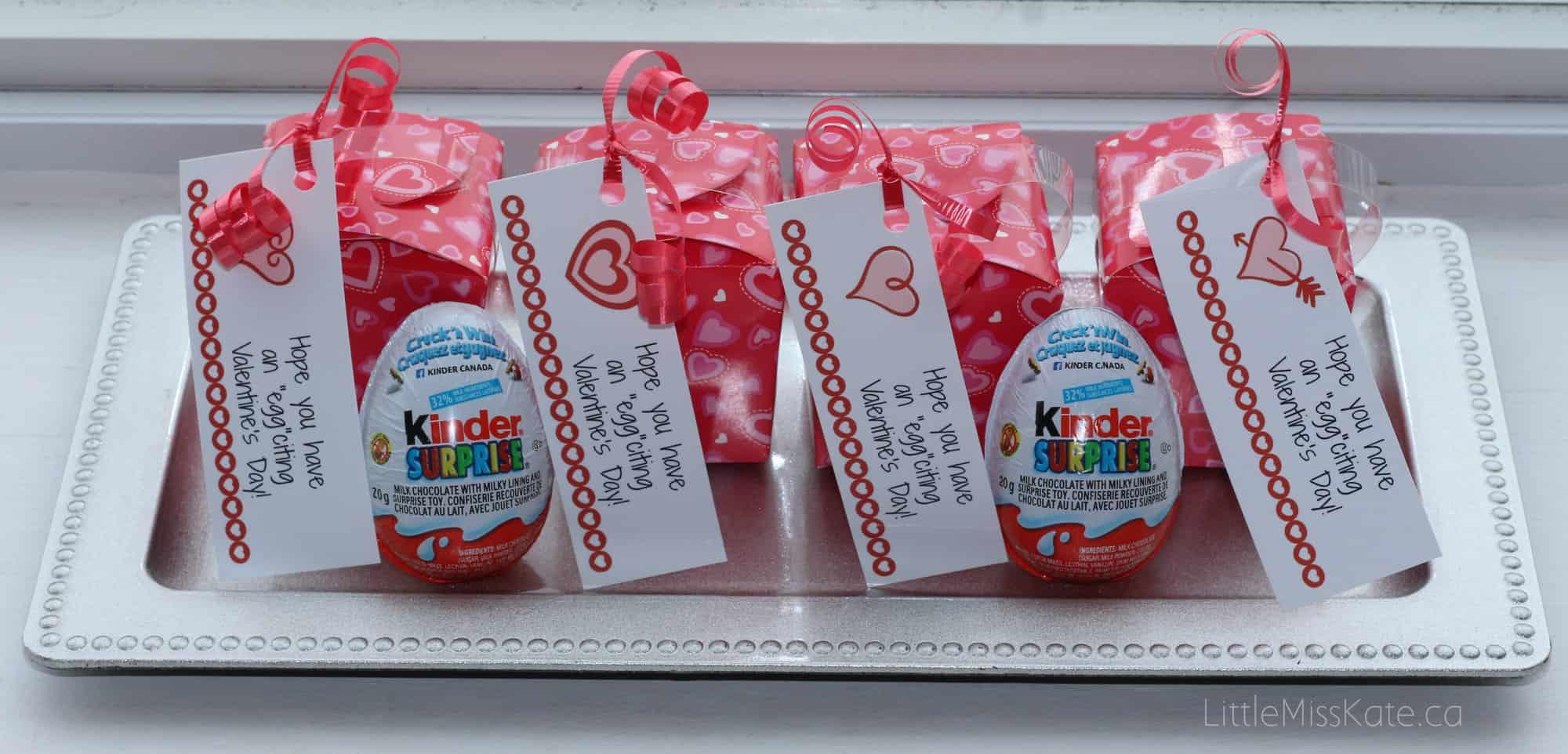 DIY Kinder Egg Valentines with FREE Printable