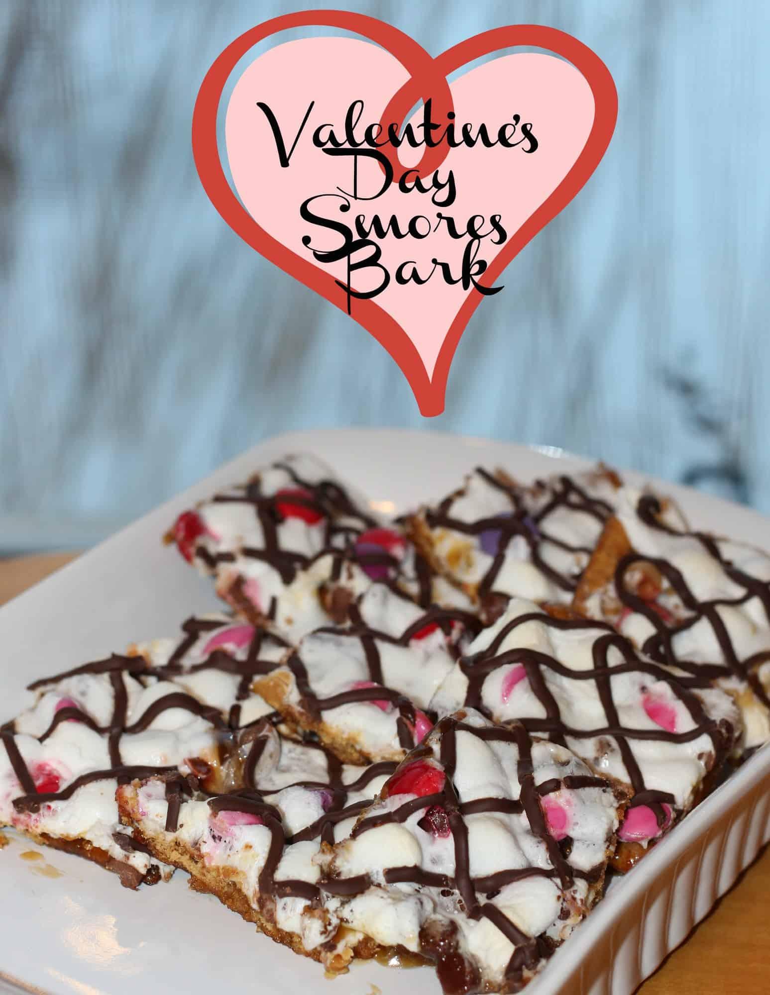 Valentine's Day Smores Bark {Recipe}