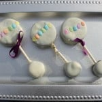 aby Shower Dessert Ideas Baby Rattle Oreo Pops