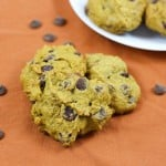 Pumpkin Chocolate Chip Cookies - moist and delicious you will be enjoying these cookies all year long! A tasty recipe that is easy to make with little helpers