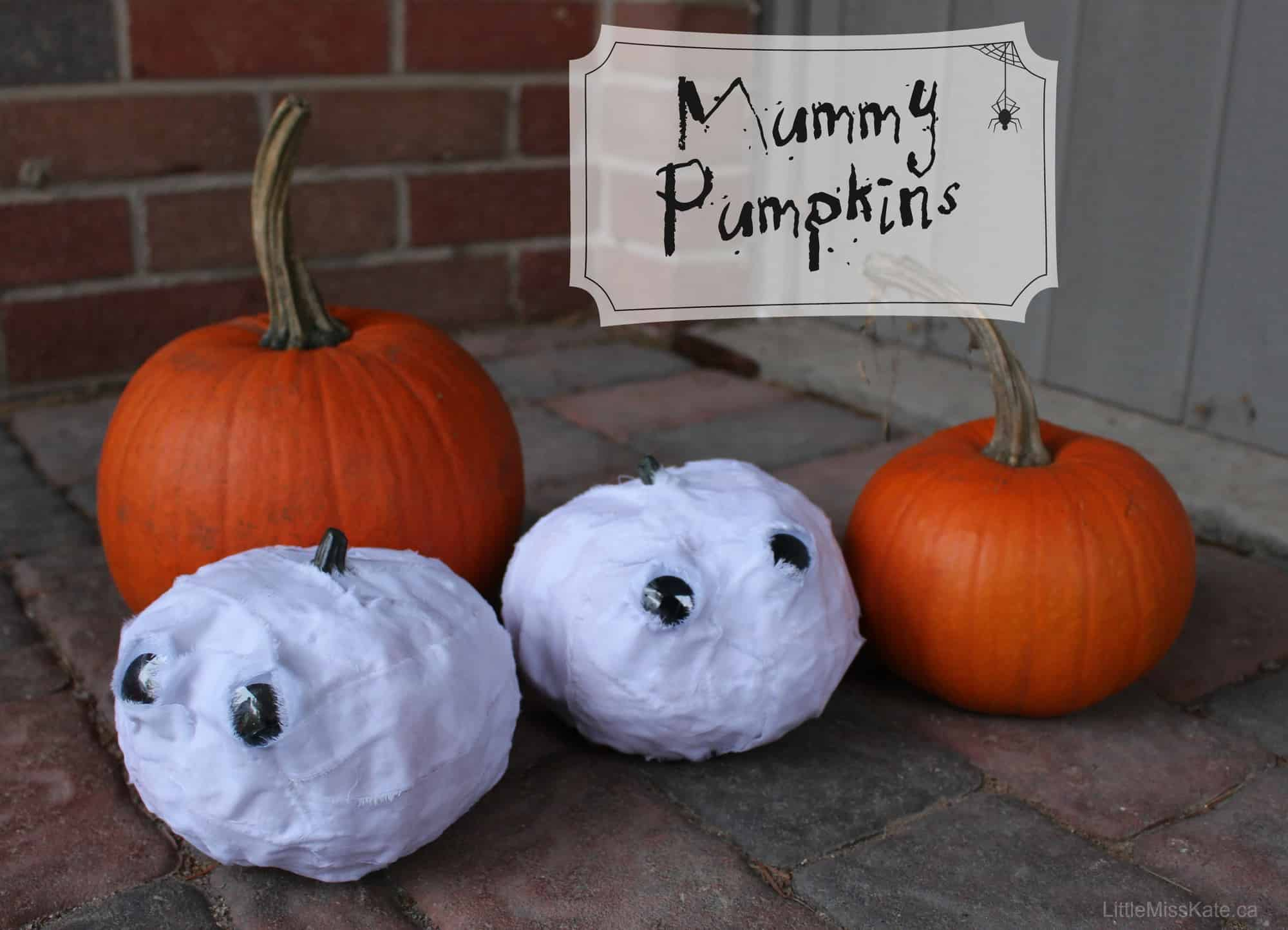 Pumpkin Decorating Ideas – Mummy Pumpkins