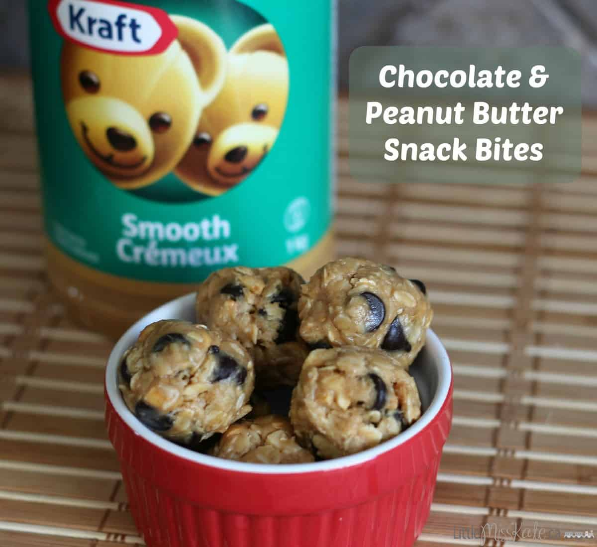 Chocolate and Peanut Butter Snack Bites Recipe