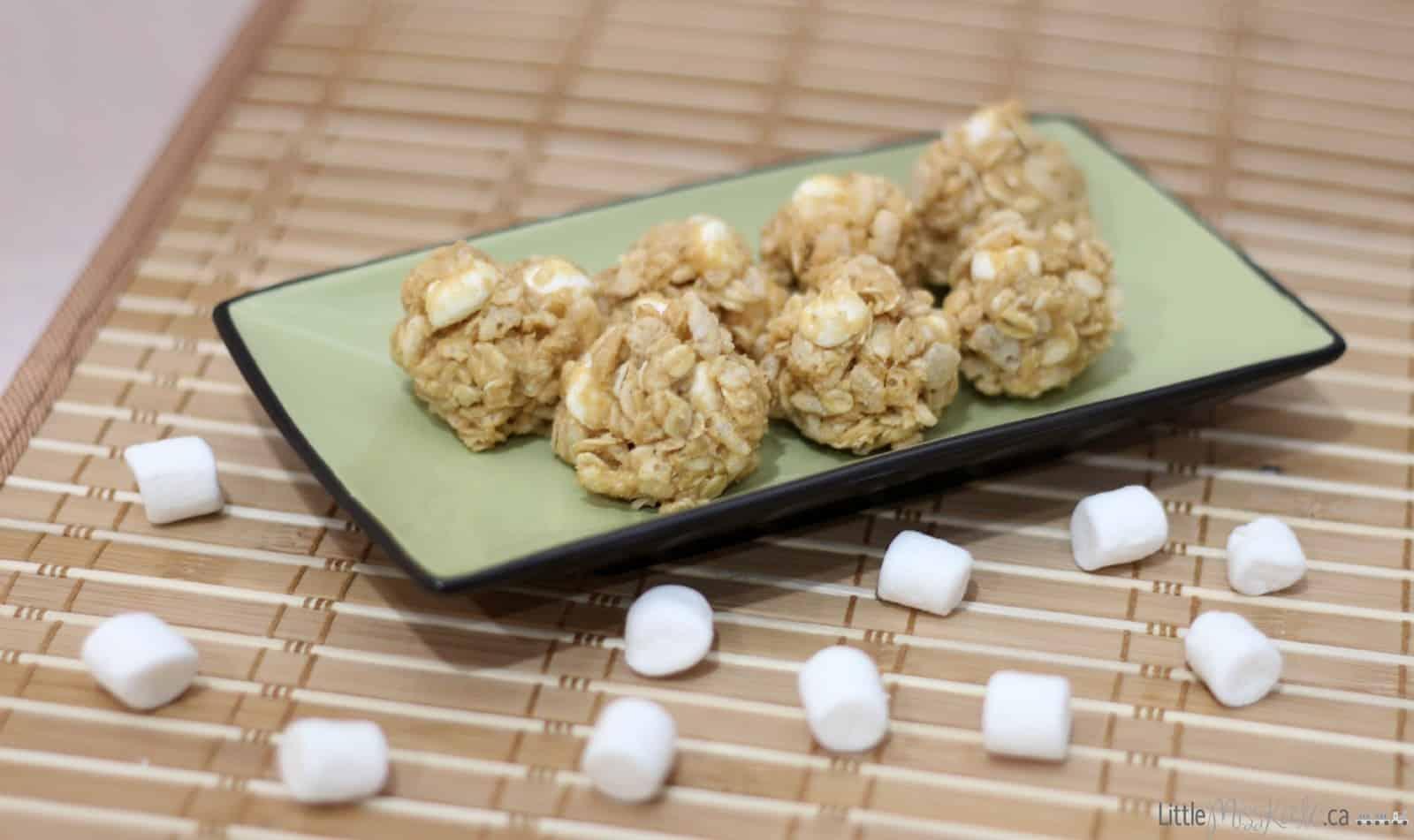 Marshmallow Peanut Butter Snack Bites Recipe