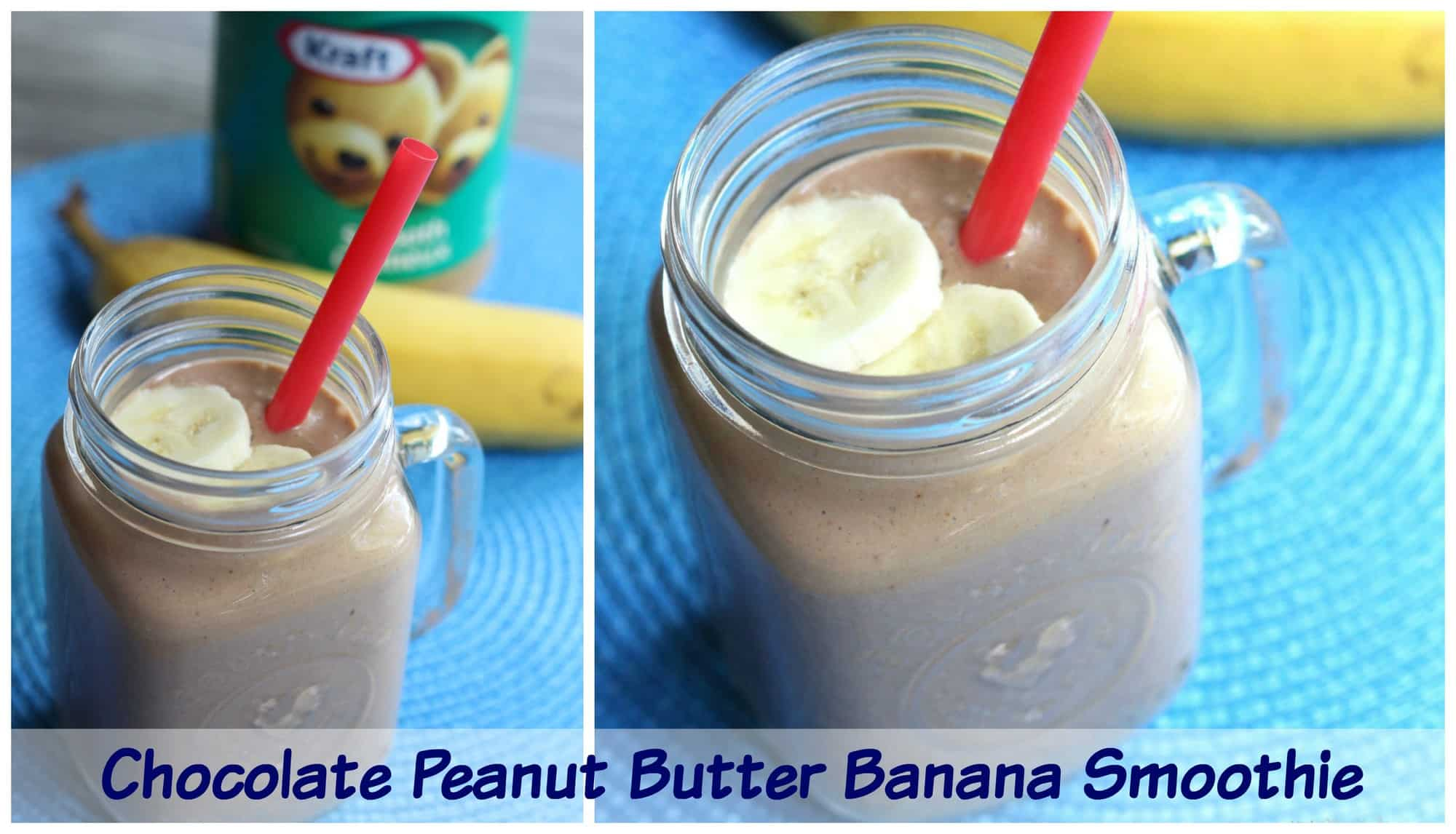 Quick Chocolate Peanut Butter Banana Smoothie Recipe With Yogurt