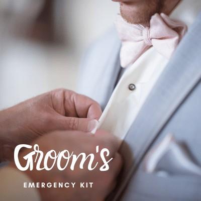 13 Must Have Items – Groom's Emergency Kit