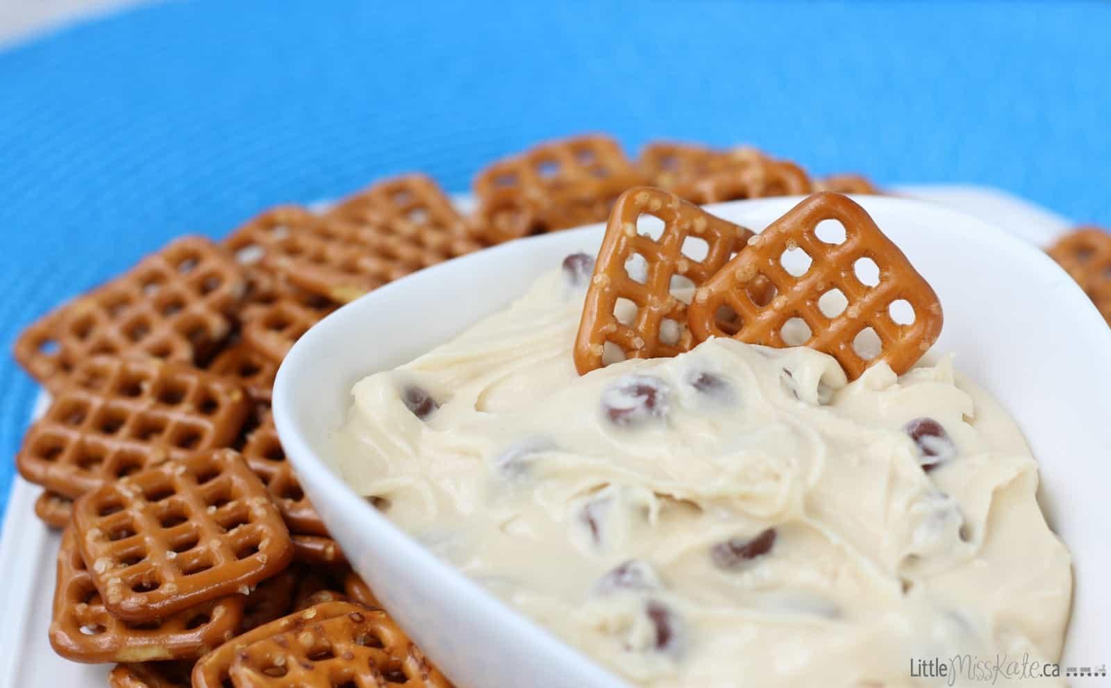 Dessert Dip Idea: Cookie Dough Dip with Pretzels Recipe