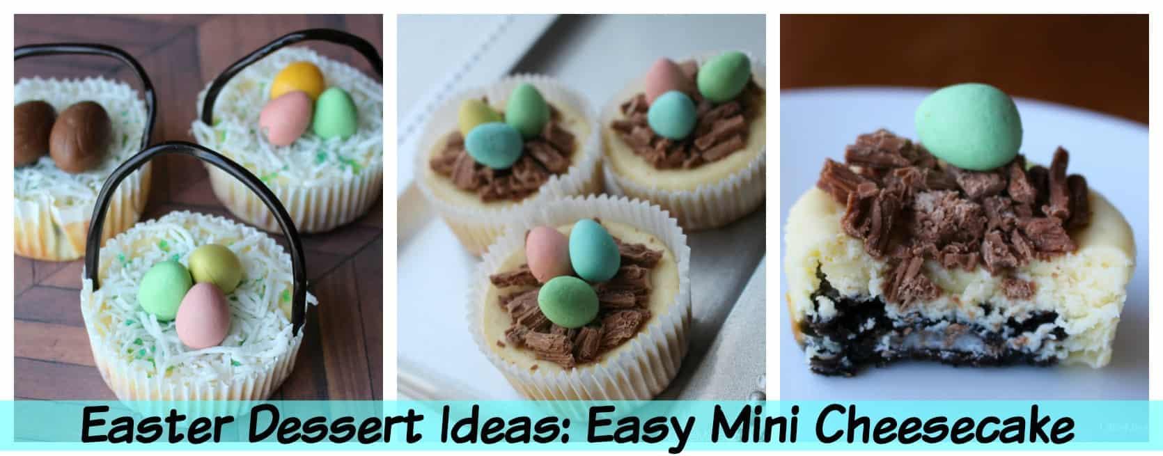 Easter Dessert Ideas: Easy Mini Individual Cheesecake Recipe