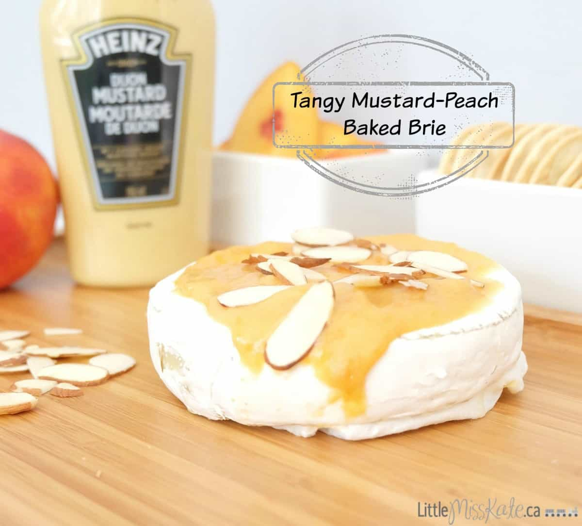 Easy Brie Appetizer: Tangy Mustard-Peach Baked Brie