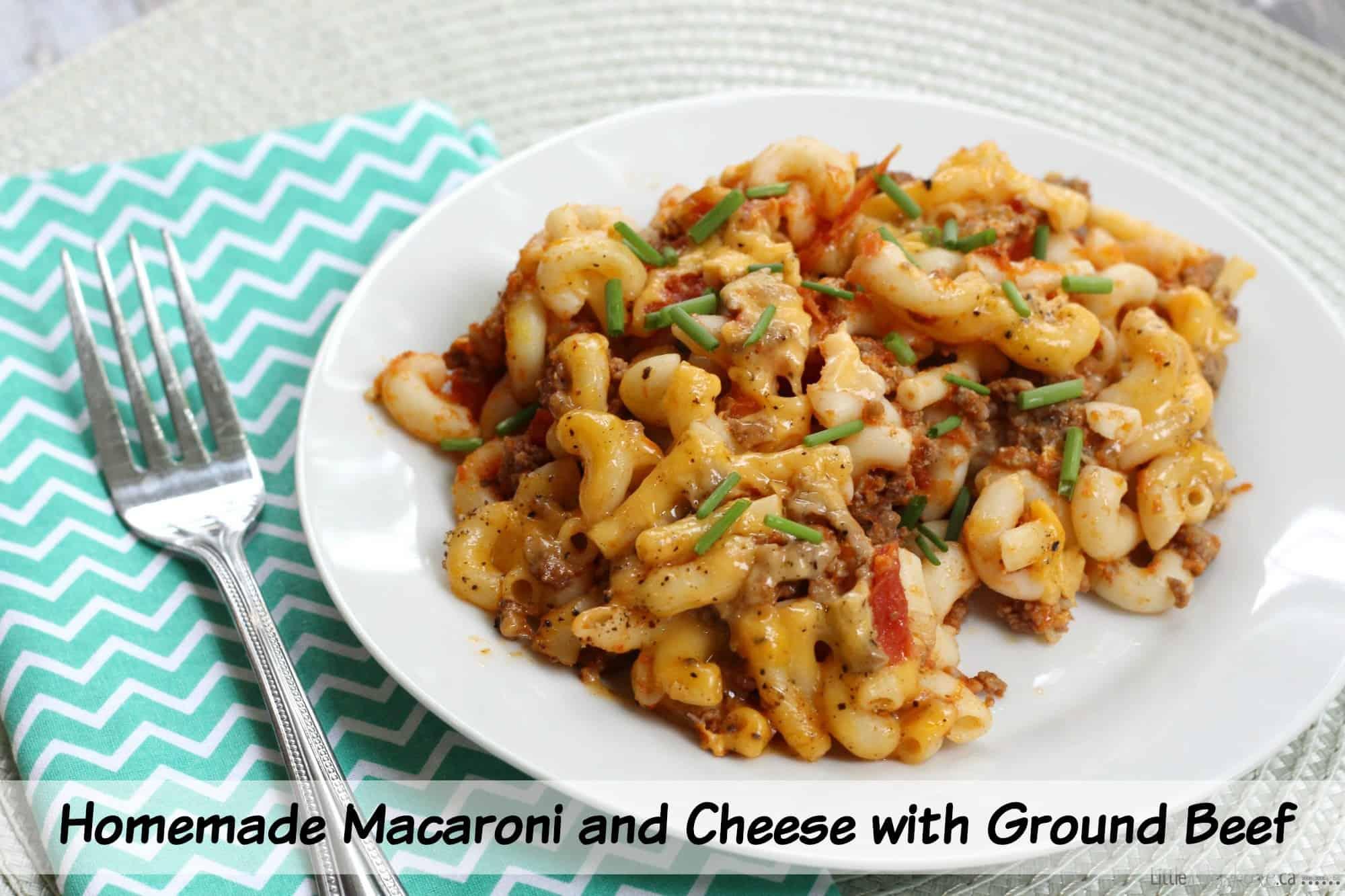 Homemade Macaroni and Cheese with Ground Beef Recipe