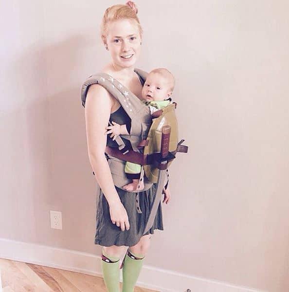 TMNT Ninja Turtles babywearing costume ideas via littlemisskate.ca