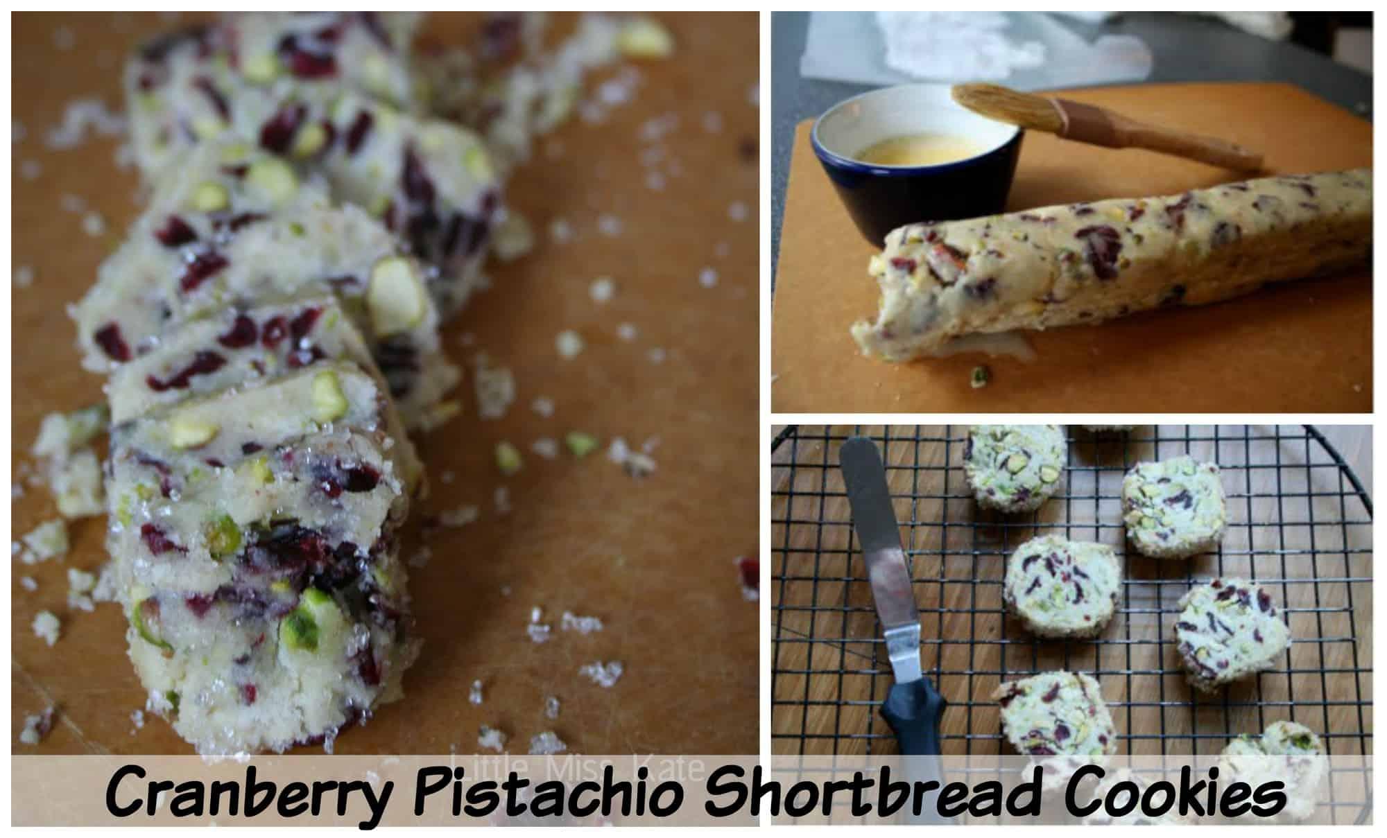 Cranberry Pistachio Shortbread Cookies Recipe