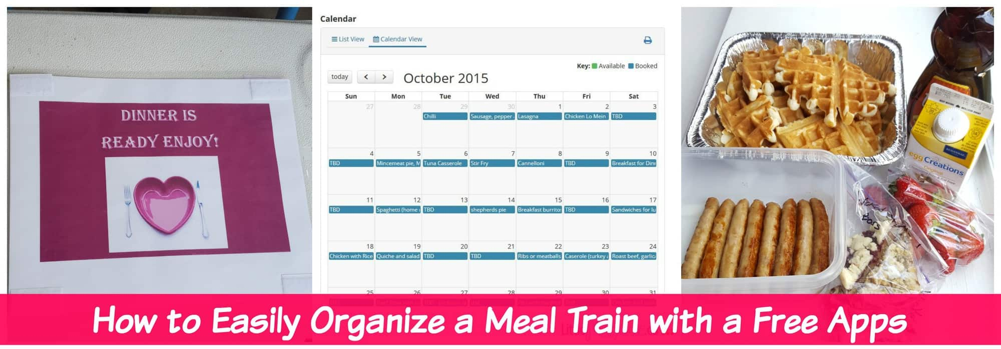 How to Easily Organize a Meal Train with Free Apps