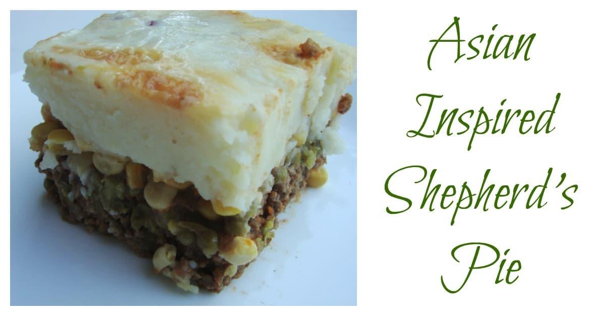 Asian Inspired Shepherd's Pie Recipe With Ground Beef