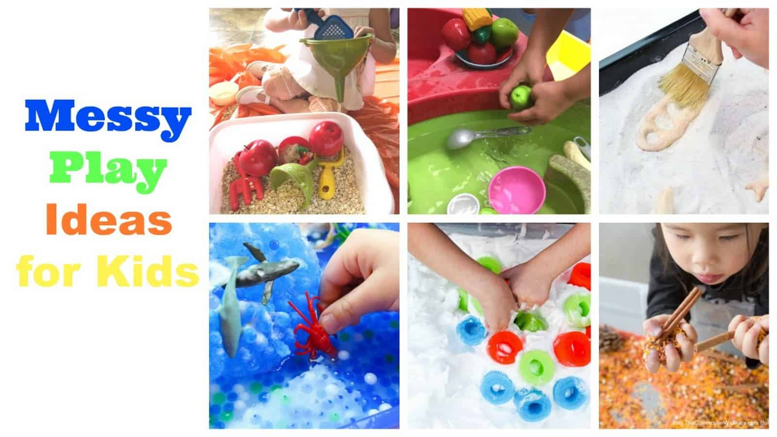 Sensory Bin Ideas and Crafts for babies for Messy Play