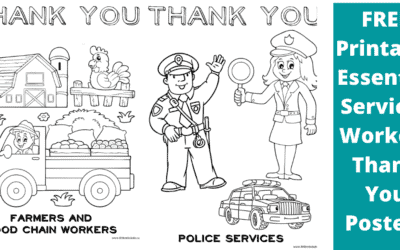 Free Printable Thank You Posters and Cards For Front Line and Essential Workers