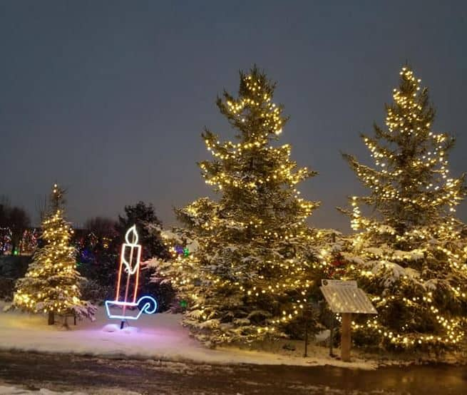 Best Christmas Lights Display in Georgetown light up the hills dominon gardens