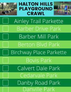 Halton Hills playground crawl