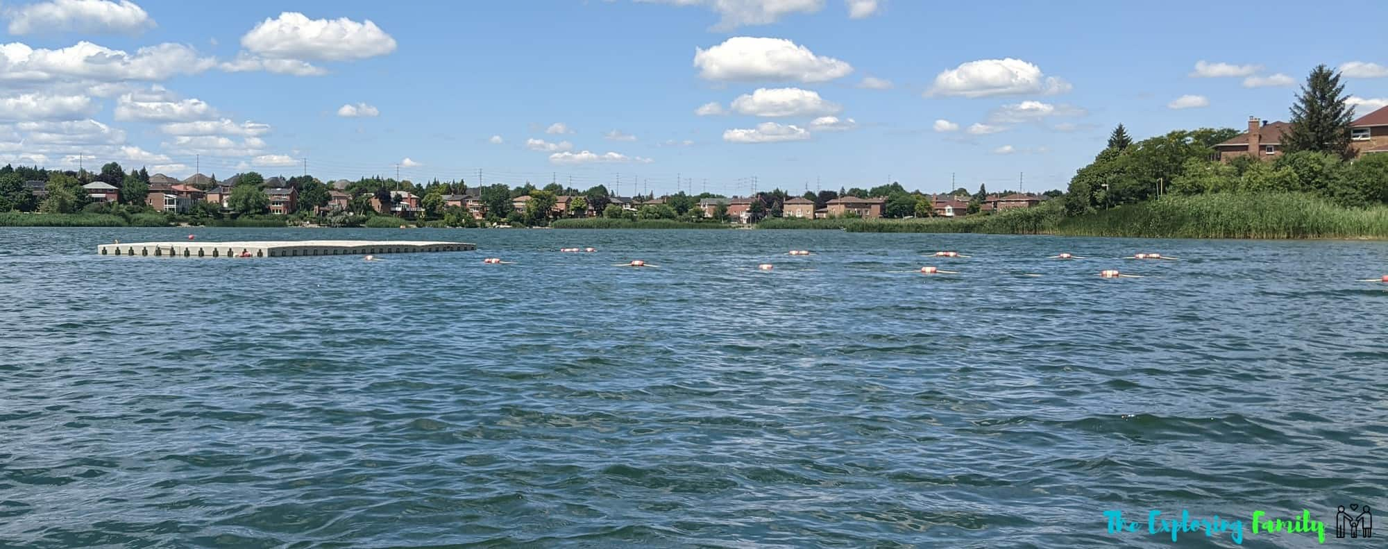 professor's lake brampton beach floating dock