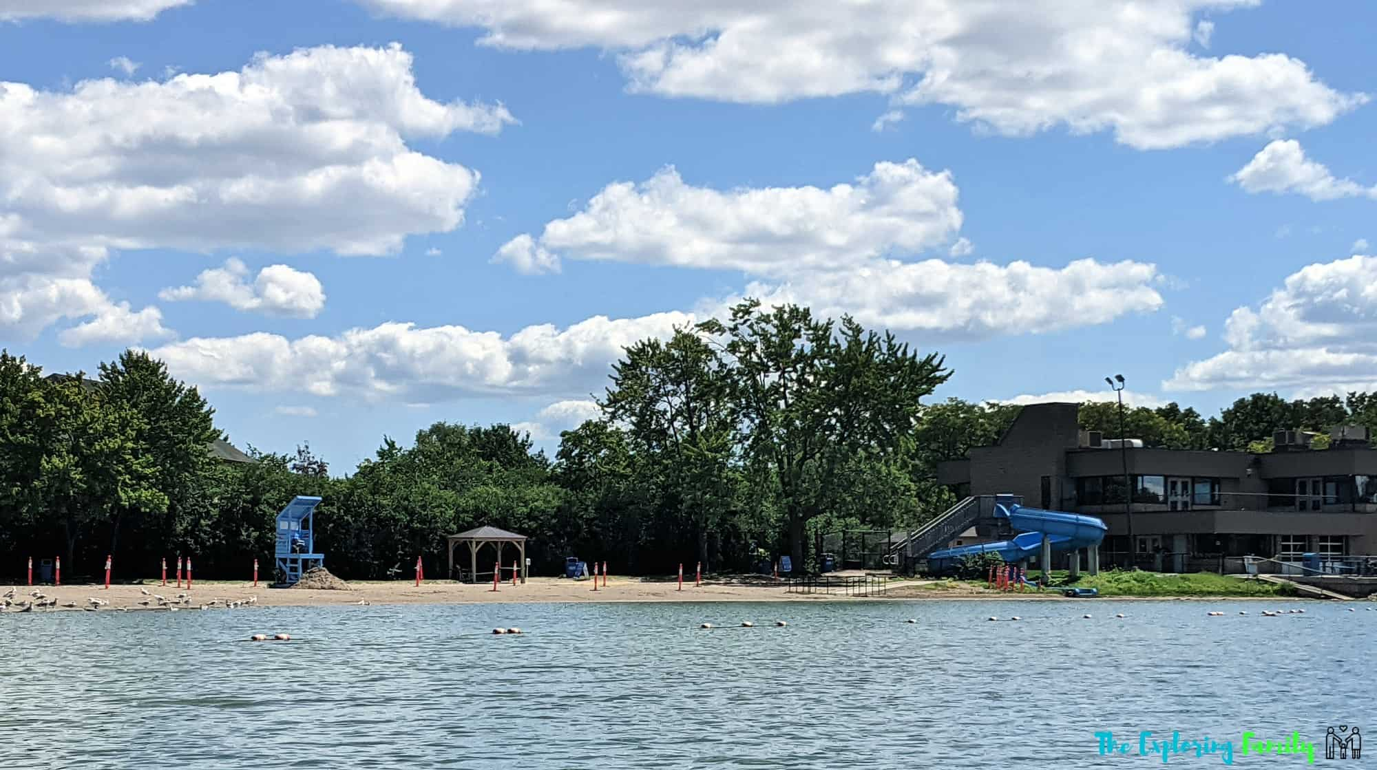 professor's lake brampton beach water slide