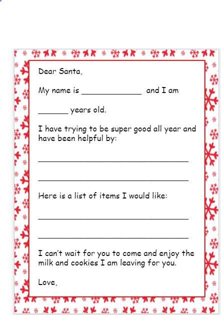 Santa Letters Template